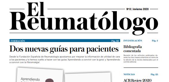 Ya está disponible la versión online de la revista 'El Reumatólogo' 8